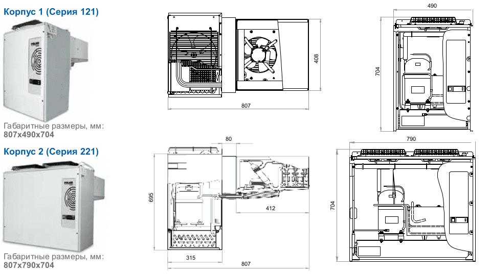 Типы корпусов моноблоков Polair