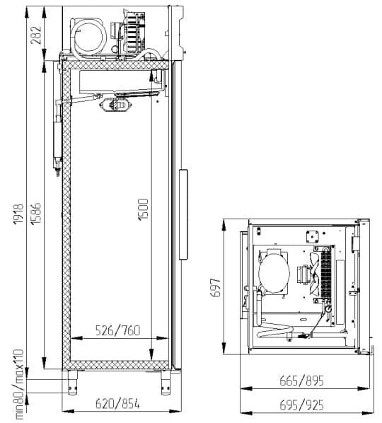Креслення шафи Polair CM 105-S