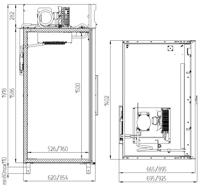 Креслення шафи Polair CV 114-S