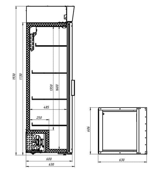 Креслення шафи Polair DM 104c-Bravo