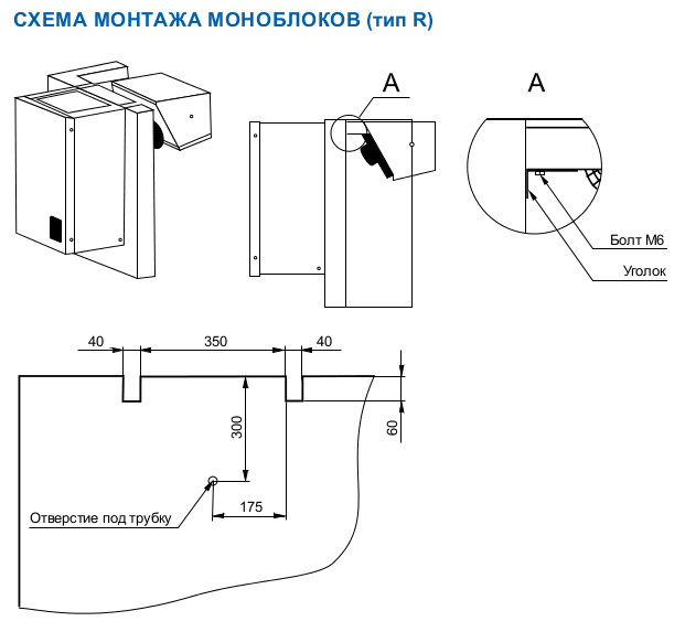 Схема монтажу ранцевого моноблоку Polair
