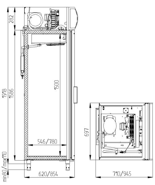 Креслення шафи Polair DM 107-S