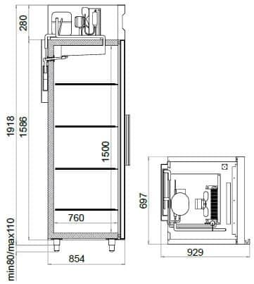 Креслення шафи Polair CM 107-S