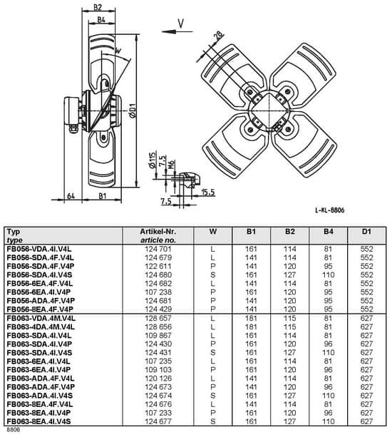 Осевой вентилятор Ziehl-abegg FB063-VDA.4M.V4L