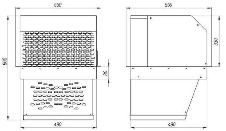 Габаритные размеры MB 109 ST