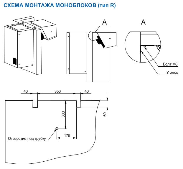 Схема монтажа ранцевого моноблока Polair